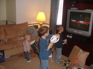 One little, Two little, Wii little Indian Boys.